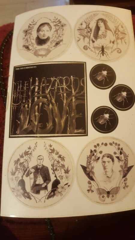 THE DECEMBERISTS 2009 PROMO STICKERs CAPITOL RECORDS Hazards of Love lp
