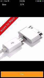 iPhone micro USB to 30 Pin charging & data sync Adopter