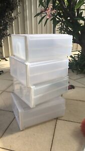 Plastic camping drawers great condition set of 4