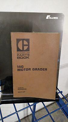 Caterpillar 14g Motor Grader Parts Book