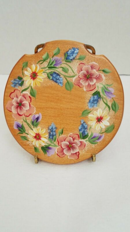 Hand Painted Wood Lid Basket Accessories Akron/Fits Longaberger Small Gatehouse