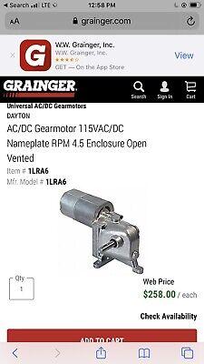 New Dayton 1lra6a Acdc Gear Motor.new