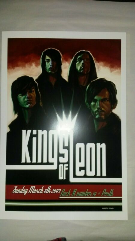 Kings Of Leon March 8, 2009 Perth, Australia Poster Concert Gig