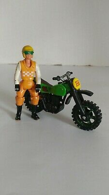 Vintage Fisher Price Adventure People MOTORCYCLE with Cyclist Driver!!