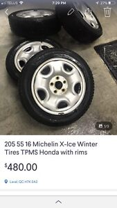 Michelin winter tires XIce 205 55 16