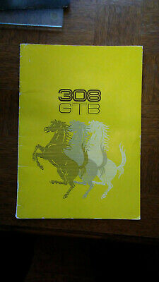 Ferrari 308 GTB Brochure '76 + 1982 Mondial 8 Spec Sheet + Other FAF literature