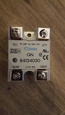 New Crouzet Gn 84134030 75a Solid State Relay 24-280vac