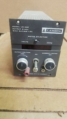 Lambda Lq-522 Dc Power Supply Good 0-40v 1.8a