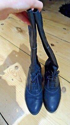 Luxus edle Stiefel Think Leder Gr. 39,5 viktorianisch victorian (Viktorianische Stiefel)