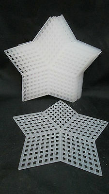 "Darice 10 Piece 7 Count  Plastic Canvas Shapes - 3.25"" Star"