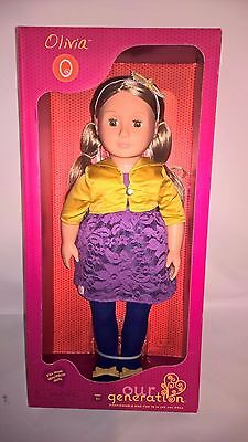 "New Our Generation Olivia 18"" Doll fits American Girl Blonde Hair, Brown Eyes"
