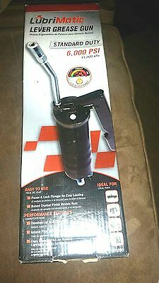 "NEW-Lubrimatic Professional Lever Action Handle Grease Gun - 5-3/8"" Coupler-14oz"