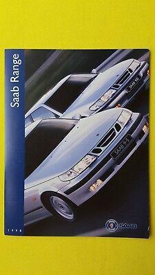 Saab 9-5 900 9000 Turbo V6 16 Valve car sales brochure catalogue 1997 95