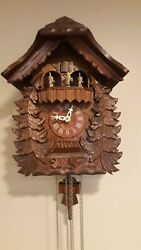 Original Cuckoo Clock Germany Romance Swiss Musical Movement Black Forest