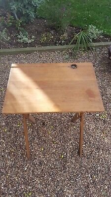 Antique Classic Childrens angled folding School Desk -solid wood good quality