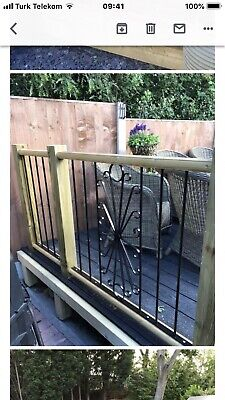 metal decking/fencing panel inserts(model004)Powder Coated.