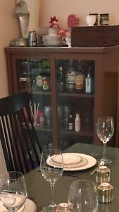 Cabinet - metal and glass