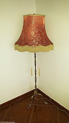 alter  Stehlampe Lampe 2flammig Messing 60-70er Jahre