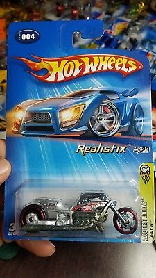 Hot Wheels motorcycle Airy 8 Metalflake Silver Realistix