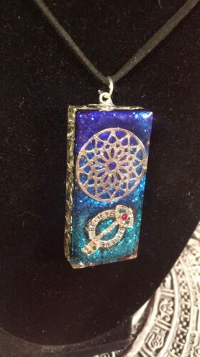 Orgone Energy - OrgoneIAM Flower of Life/Believe Key Healing Pendant