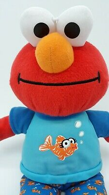 "12"" Hasbro Sesame Street ELMO Plush Talks Music 2010 Sleepy Bedtime Soft Toy"