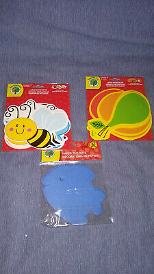 Teaching Tree Paper Cut Outs fish, Fruit, Insects Bulletin Board New