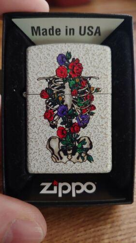 Floral Skeleton Design Mercury Glass Zippo Lighter 2020