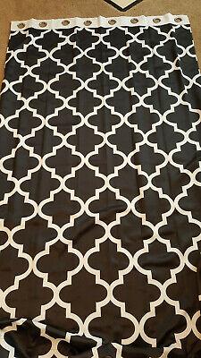 Best Home Fashion Room Darkening Moroccan Print Border Curtains ( 2
