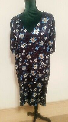 YAYA*Kleid*Damen**marine&blau*Blumen muster*Gr.42 - Marine Kleid Blau