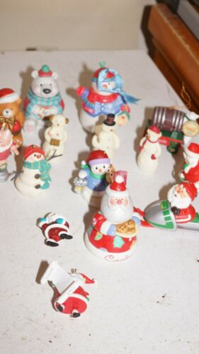 Lot of 15 Hallmark Christmas santa and snowman