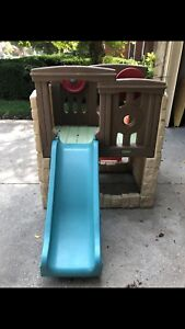 Used Step Two Children's Slide and Basketball Net Bundle