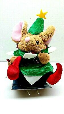 Gemmy Animated Musical Christmas Tree (Elf Mouse) Sings So Wah Diddy 9