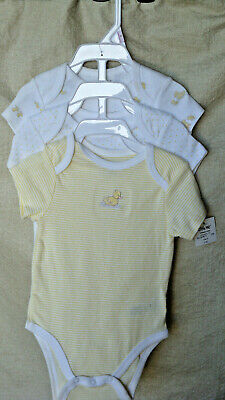 LITTLE ME 100% COTTON 3 pack CUTE BABY DUCK Lap Shoulder Bodysuits UNISEX NWT