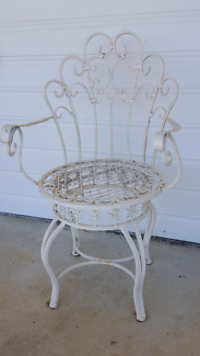 2 x ORNATE WROUGHT IRON CHAIRS