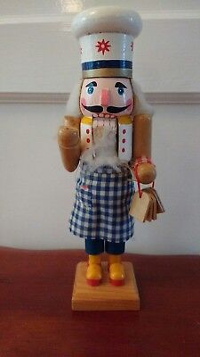 nutcracker Chef baker cook vintage  wooden doll Christmas