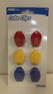 Cube Clips for Cubicle Fabric and Corkboards 6-Count, Assorted Colors (710823QL)