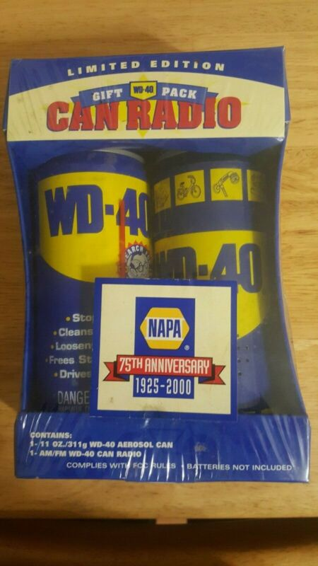 75 Anniversary Limited Edition WD40 Transistor RADIO Gift Pack Unopened Box New