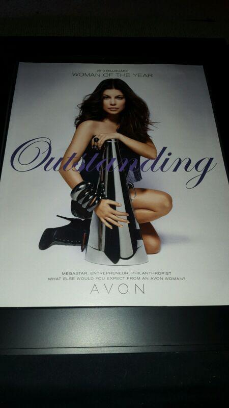 Fergie 2010 Billboard Avon Woman Of The Year Rare Original Promo Poster Ad Frame