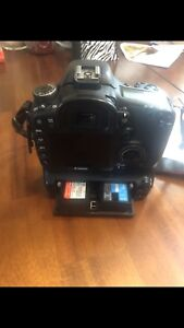 Canon 7D body with grip, two batteries and charger