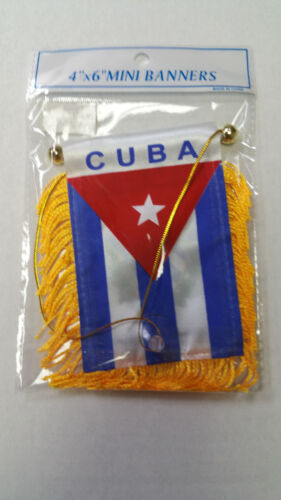 CUBA Mini Banner Flag For Car & Home Window Mirror Hanging 2 Sided
