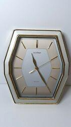 Daniel Dakota Quartz 3 Hand Modern Home Decorative Gold Tone Wall Clock
