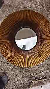 Tuscan gold glass round mirror Maryland Newcastle Area Preview