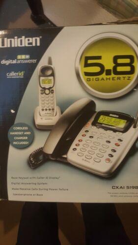 UNIDEN Digital Answerer 5.8 Gigahertz Corded/Cordless Phone Combo CXAI 5198