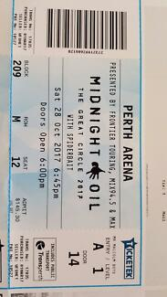 Midnight Oil Ticket Perth