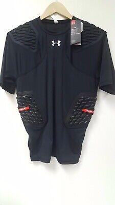 Under Armour Gameday Football Shirt Heat Gear, black, Size:XL