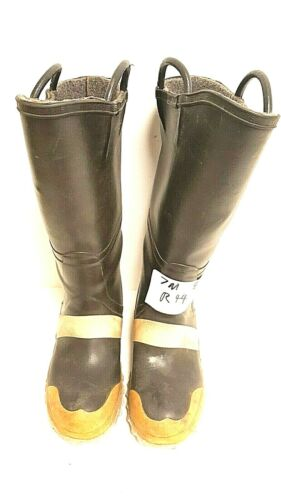 Servus Firefighter Turnout Rubber Boots Steel Toe Size Mens 7 Woman