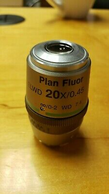 Nikon Plan Fluor Elwd 20x0.45 0-2 Wd 7.4 Dic Ln1 Microscope Objective