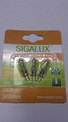 2x 3 Stück in Blister Sigalux Halogen-Stiftsockellampe G4, 12V, 20Watt ()