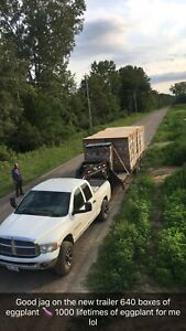 2008 32' hydraulic beavertail trailer