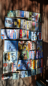 Collection of vintage RC Model plane magazines and aircraft books